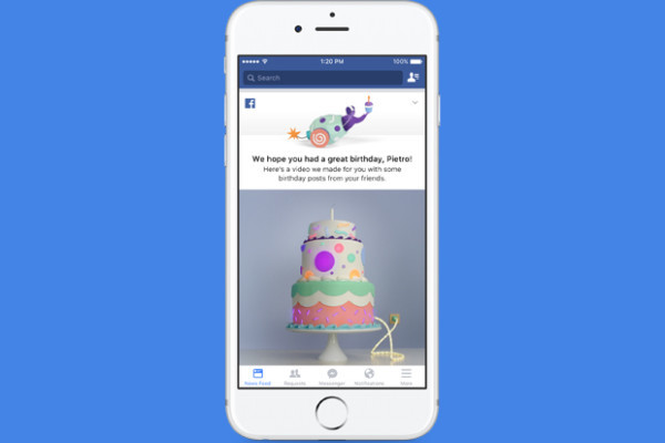 Facebook introduce il video di compleanno, un nuovo regalo per i suoi utenti